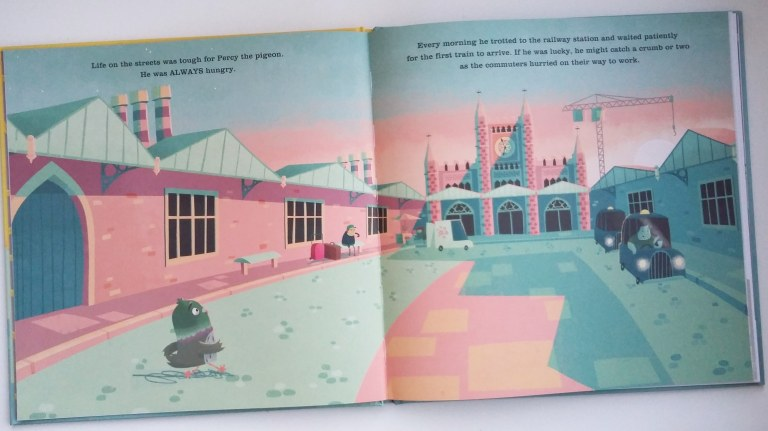 Bristol Temple Meads station in The Last Chip by Duncan Beedie Templar Publishing Picture Book in aid of The Trussell Trust
