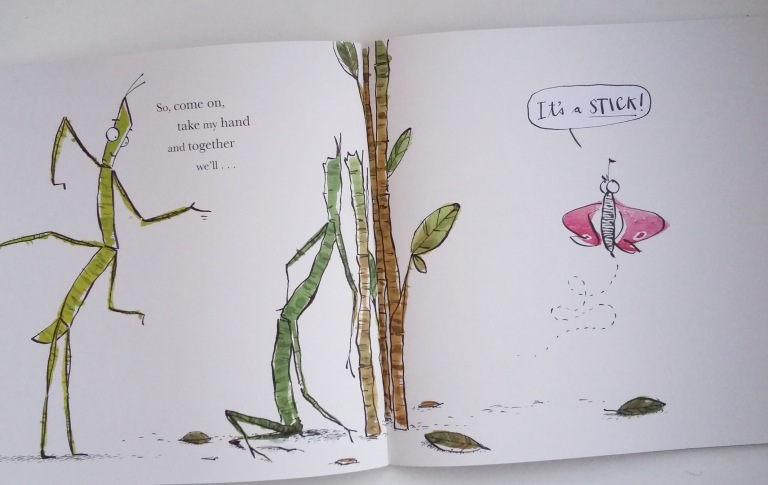 Butterfly in I Love You, Stick Insect by Chris Naylor-Ballesteros Bloomsbury Picture Book