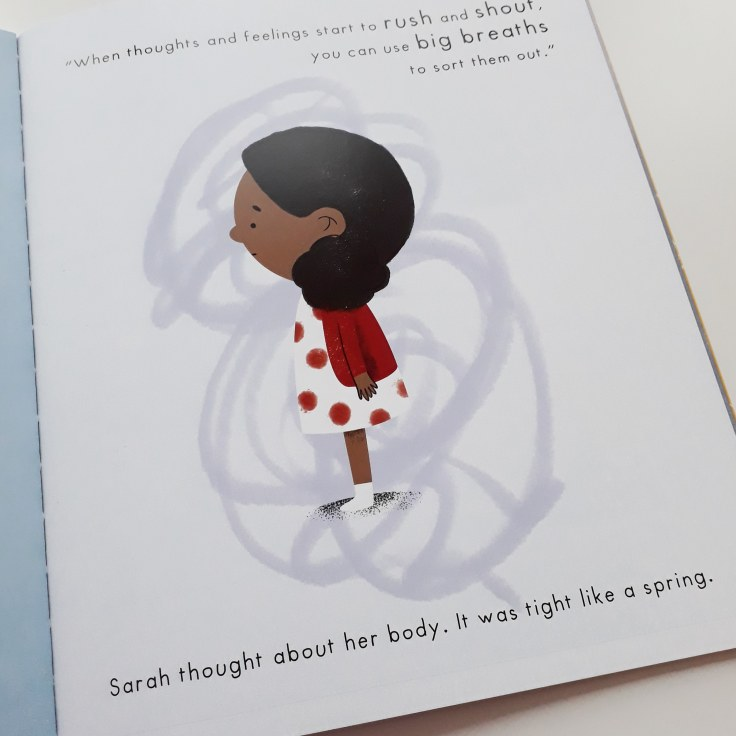 Describing emotions in Mind Hug by Emily Arber and Vanessa Lovegrove Circus House Publishing - mindfulness for children