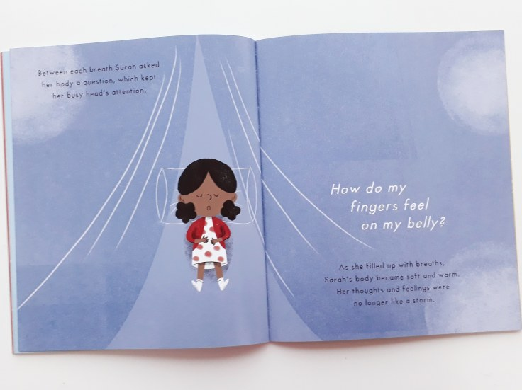 Grounding techniques in Mind Hug by Emily Arber and Vanessa Lovegrove Circus House Publishing - mindfulness for children