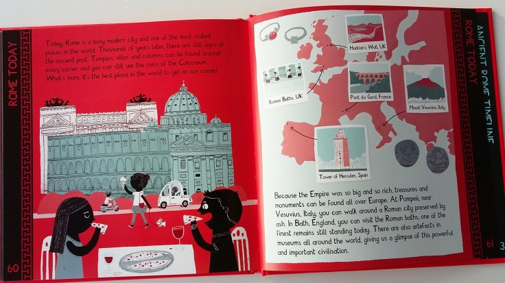 Rome today from Meet The Ancient Romans by James Davies Big Picture Press children's non fiction