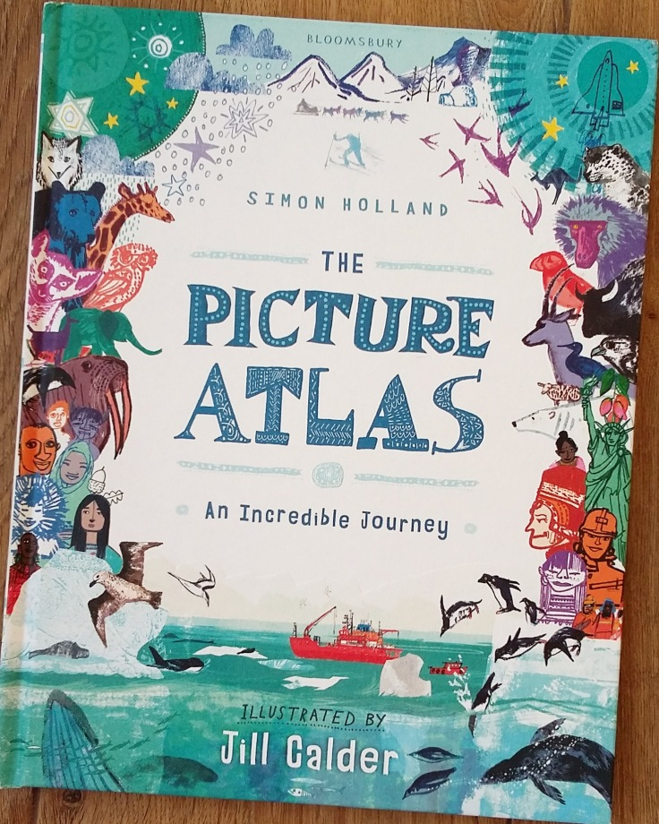 The Picture Atlas by Simon Holland and Jill Calder for Bloomsbury Children's illustrated Atlas non fiction