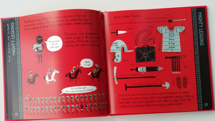 The Roman army from Meet The Ancient Romans by James Davies Big Picture Press children's non fiction