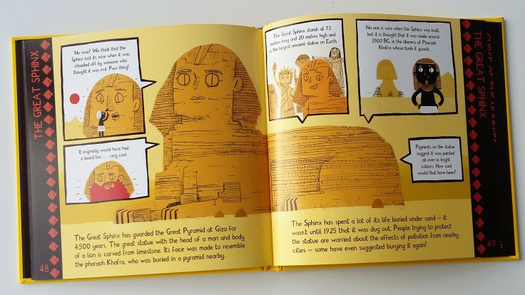 The Sphinx from Meet The Ancient Egyptians by James Davies Big Picture Press children's non fiction