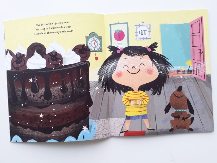 Cake in I Really Want the Cake Simon Philip Lucia Gaggiotti Templar Publishing Waterstones Children's Book Prize