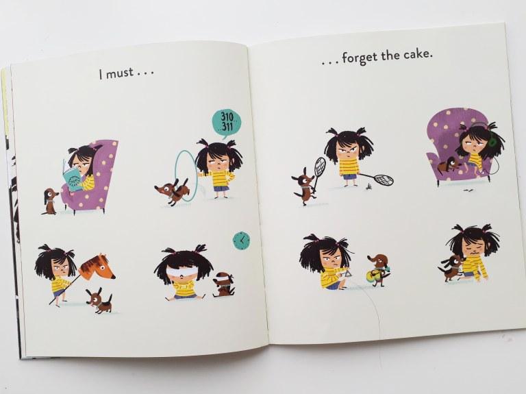 Distraction techniques in I Really Want the Cake Simon Philip Lucia Gaggiotti Templar Publishing Waterstones Children's Book Prize