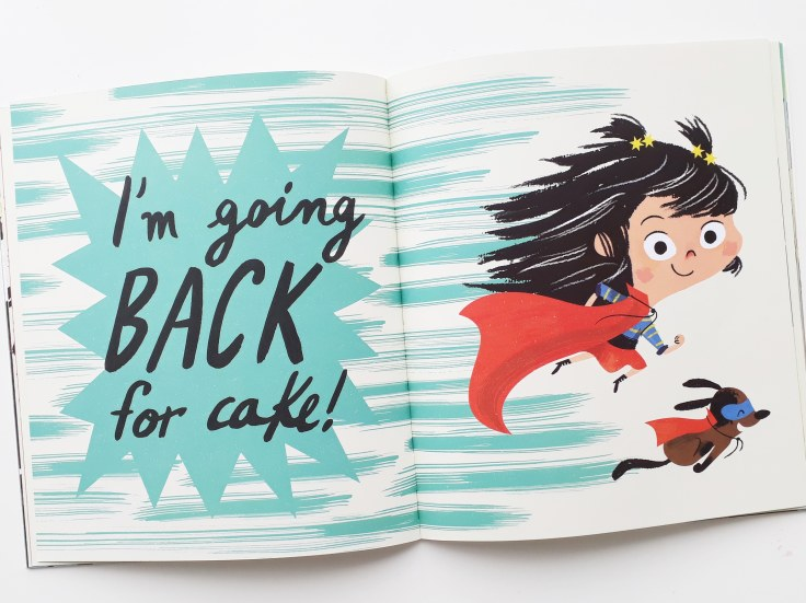 I'm going back for cake in I Really Want the Cake Simon Philip Lucia Gaggiotti Templar Publishing Waterstones Children's Book Prize