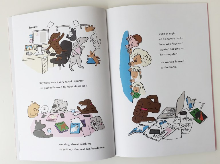Raymond Yann and Gwendal Le Bec dog picture book Walker Books overworked