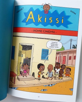 Cinema story in Akissi Tales of Mischief by Abouet and Sapin Flying Eye Books