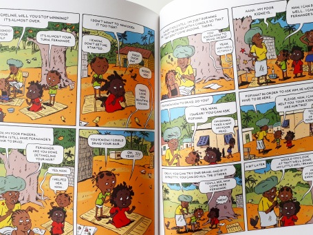 Comic book illustrations in Akissi Tales of Mischief by Abouet and Sapin Flying Eye Books