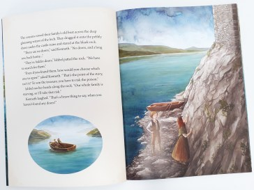 Illustrations in The Treasure of the Loch Ness Monster by Lari Don and Natasa Ilincic Discover Kelpies Scottish folk tales