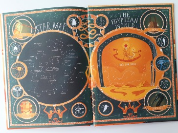 Star map in Brownstone's Mythical Collection Marcy and the Riddle of the Sphinx Joe Todd Stanton Flying Eye Books