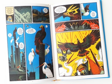 War between the birds and the animals in Gamayun Tales The King of Birds by Alexander Utkin Nobrow