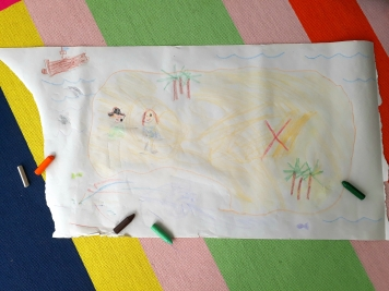 How to encourage reluctant artists drawing together treasure map