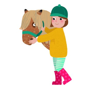 Kate McLelland self-portrait with Horse