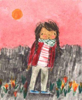 The Day War Came Rebecca Cobb Nicola Davies Walker Books little girl