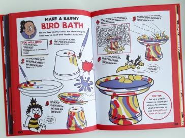 How to make a bird bath in Beano Book of Mischief Mayhen and Fun Templar Publishing