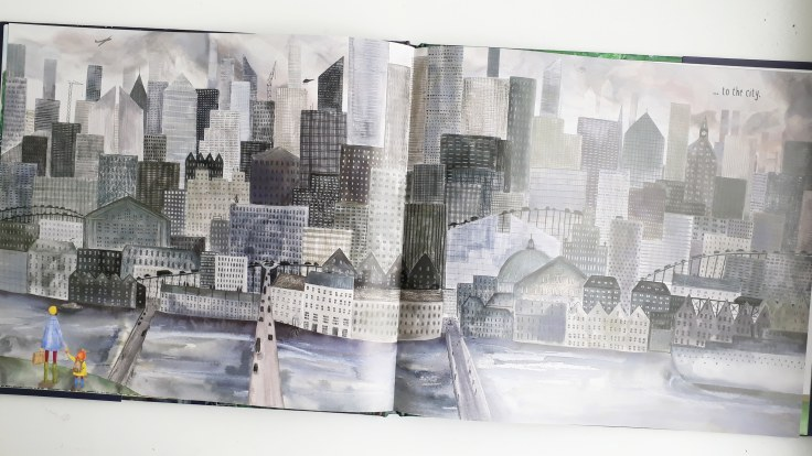 The big city in Maybe the Moon Frances Ives Lom Art