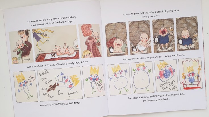 King baby in His Royal Tinyness A Terrible True Story Sally Lloyd Jones David Roberts Walker Books