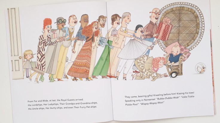 Sibling rivalry in His Royal Tinyness A Terrible True Story Sally Lloyd Jones David Roberts Walker Books
