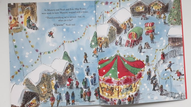 Christmas shopping in Oliver Elephant Lou Peacock Helen Stephens Nosy Crow