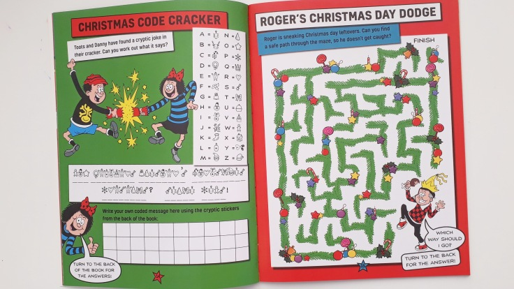 Puzzles in Beano Christmas Jumper Activity Book Templar Publishing