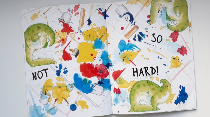 messy paint in crocodali lucy volpin interactive picture book templar publishing