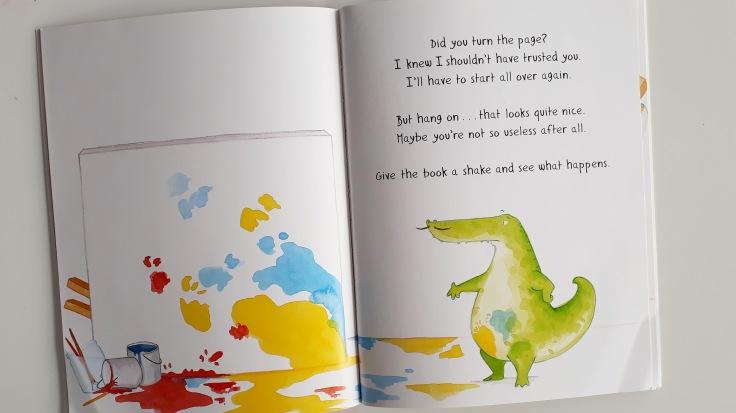 the crocodile artisit in crocodali lucy volpin interactive picture book templar publishing