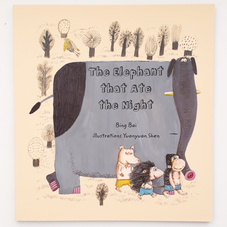 the elephant that ate the night by bing bai illustrations by yuanyuan shen publisher everything with words picture book bedtime story about being scared of the dark