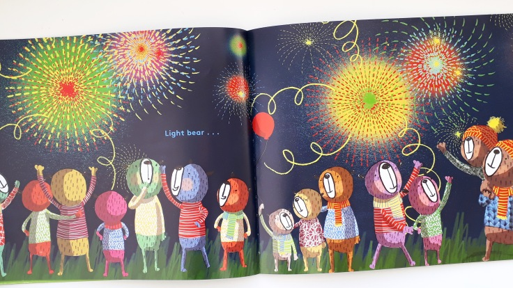 Fireworks in This Bear That Bear Sian Wheatcroft rhyming picture book Templar Publishing