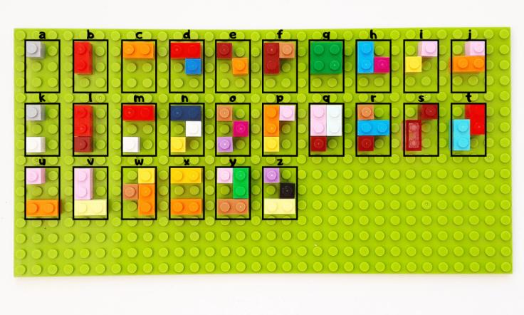 Lego Braille Alphabet