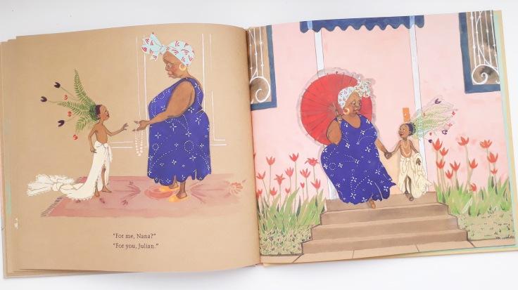 Acceptance from Nana in Julian is a Mermaid Jessica Love Walker Books kids diverse picture book transgender gender fluid
