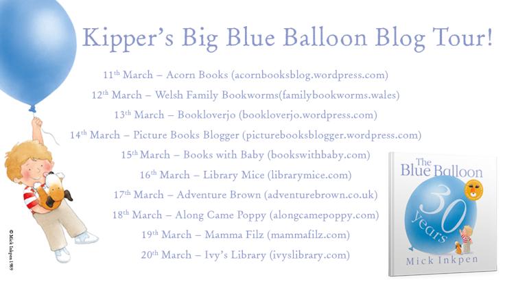 Kipper's Big Blue Balloon Blog tour image