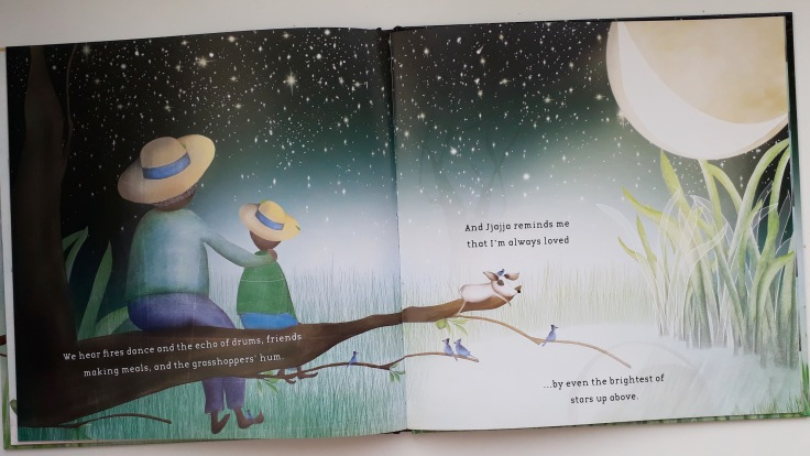 You are always loved in Sing to the Moon by Nansubuga Nagadya Isdahl and Sandra van Doorn Lantana Publishing kids picture book set in Uganda Africa