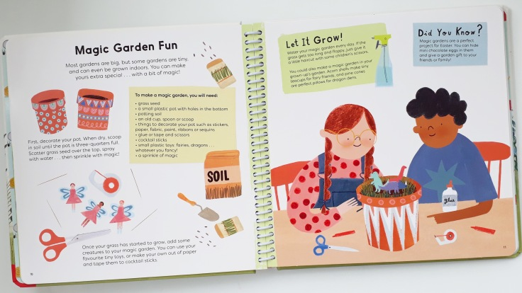 Magic garden in Sunflower Shoots and Muddy Boots A Child's Guide to Gardening Nosy Crow National Trust Grace Easton Katherine Halligan