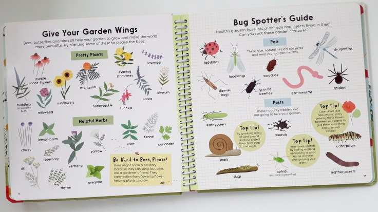 Minibeast and bug guide in Sunflower Shoots and Muddy Boots A Child's Guide to Gardening Nosy Crow National Trust Grace Easton Katherine Halligan