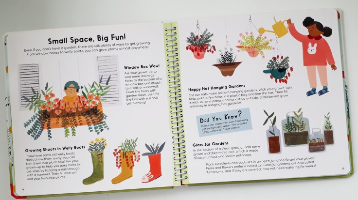 Small spaces in Sunflower Shoots and Muddy Boots A Child's Guide to Gardening Nosy Crow National Trust Grace Easton Katherine Halligan