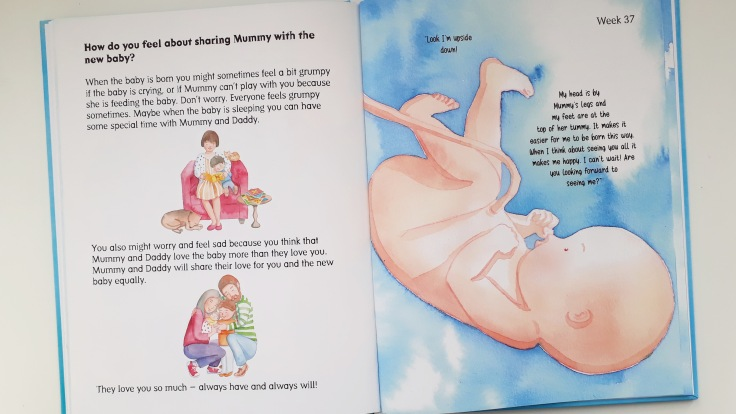 Feelings of jealousy with new baby in Let's Talk to Mummy's Tummy by Helen Lacey illustrated by Carla Moreno Storychum Publishing new baby pregnancy children's picture book