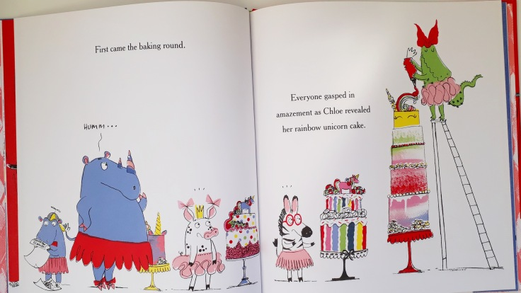 I Really Want That Unicorn Fabi Santiago Orchard Books Picture Book baking rainbow cakes