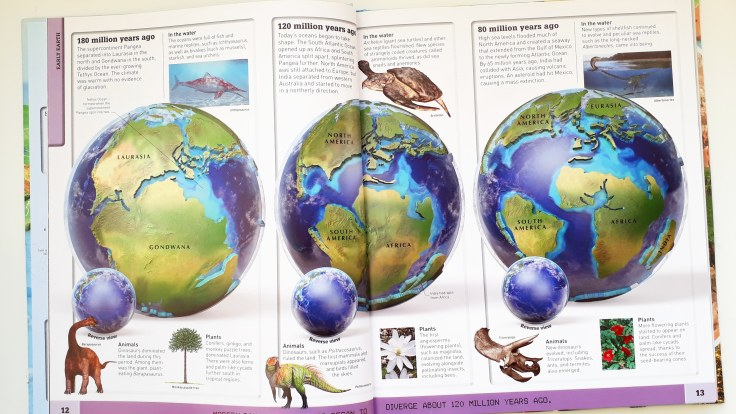 History of planet Earth in What's Where on Earth Atlas for kids DK Books children's non fiction